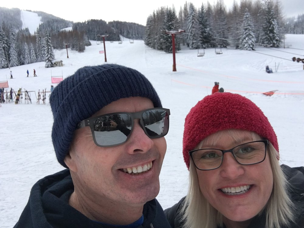 We went up to the local ski resort for lunch on Christmas day.