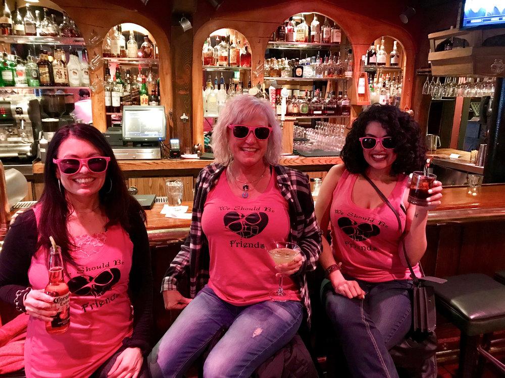 Patrizia, Alexa, and me having drinks before the Miranda Lambert concert.