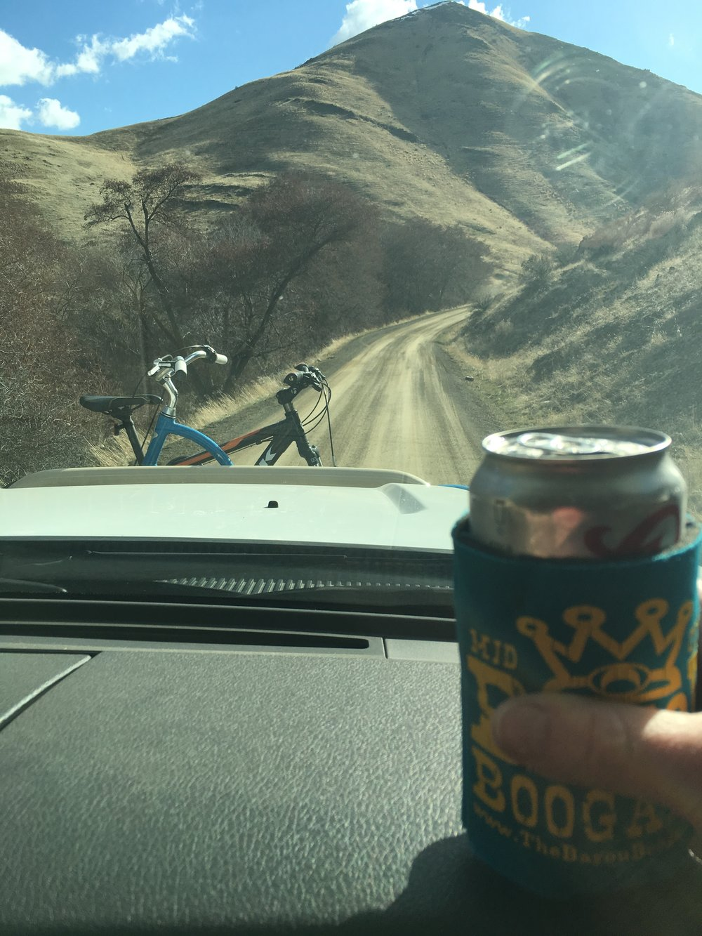 """It's been a long dusty road! We gave up hope, and are pushing through with dirt """"road sodas""""!"""