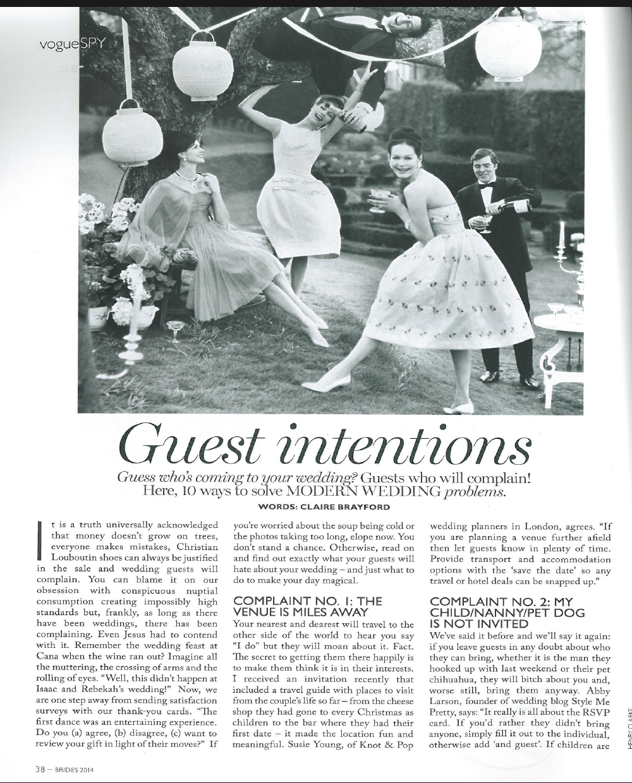 Vogue Australia bridal supplement