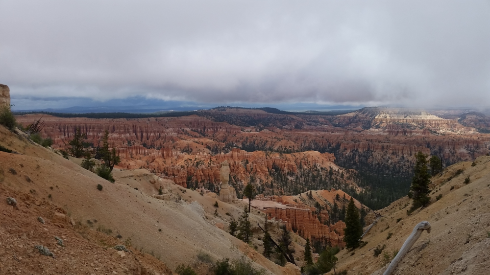 Storm rolling into Bryce Canyon