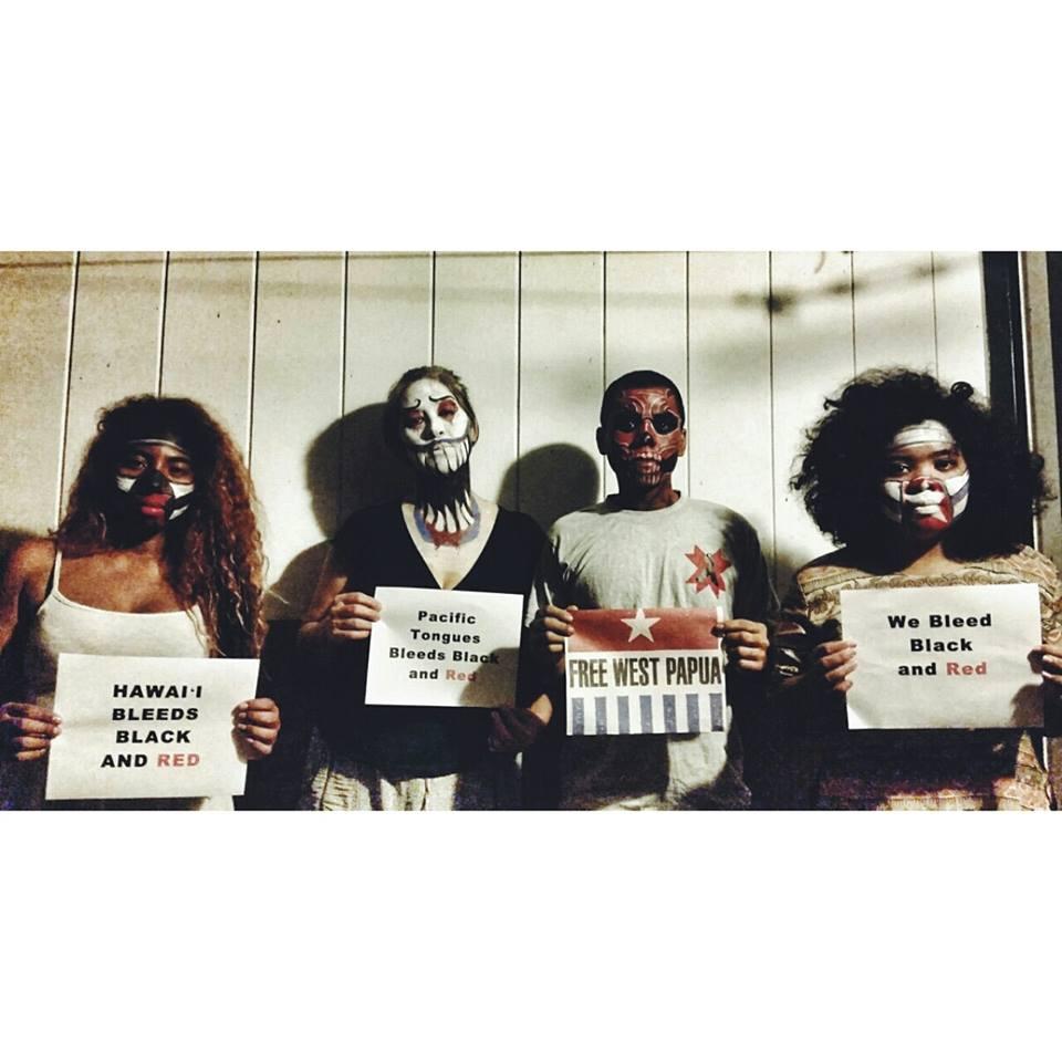 Free West Papua Campaign. Models: Sarah Daniels, Lyz Soto, Harrison Ines, & Malia Derden. Face / Body Art by Jocelyn Ng.