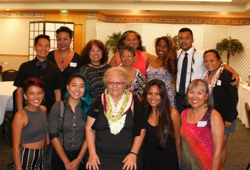 Representing Pacific Tongues at the Annual Hawai'i People's Fund Dinner. Along side many mana wahine that do amazing work within Hawaii's community.