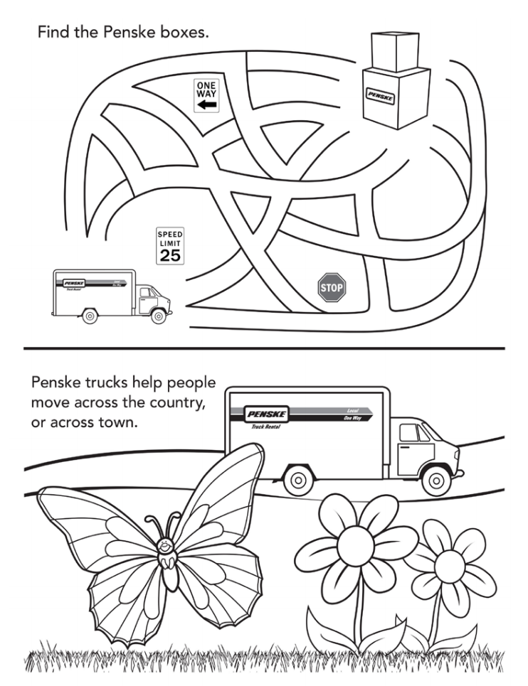 Free Download] Moving Day Kids Coloring Book - Updater