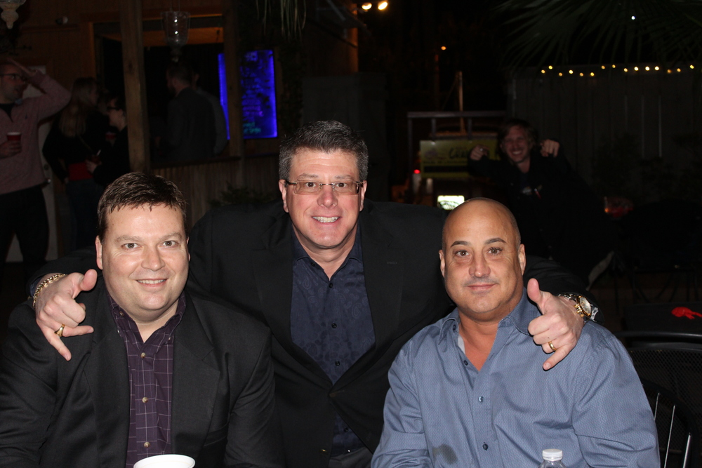 Updater's Michael Clarner, alongside Arpin's Marco Uriati and Richard Travisono