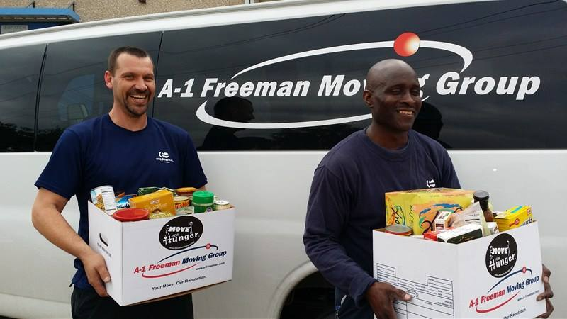 Our client, A-1 Freeman, supporting Move For Hunger