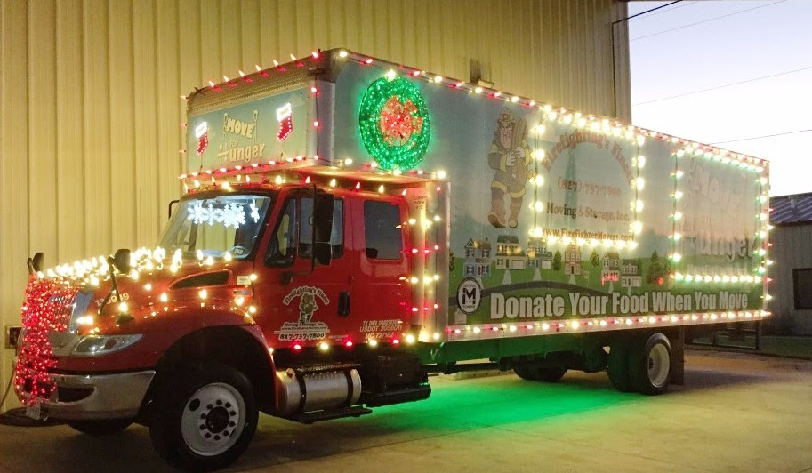 Who wouldn't publicize this incredible Move for Hunger holiday truck?