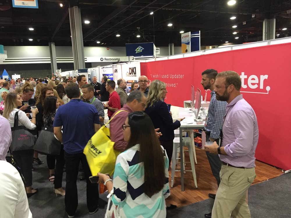 The (magnificent!) storm – absolutely slammed at booth #1630