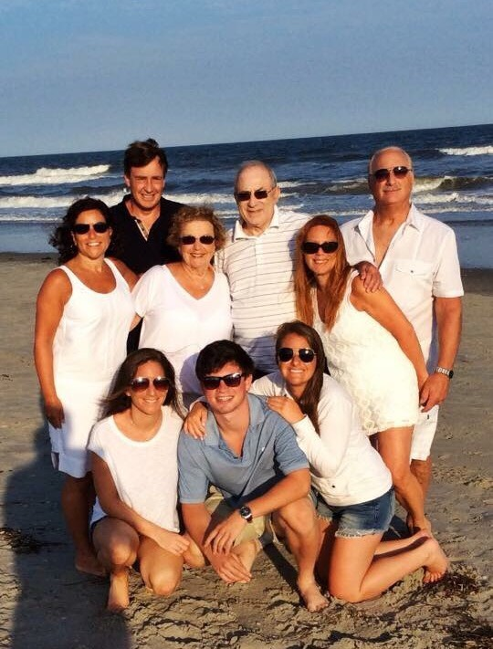 Jenna's family at the shore