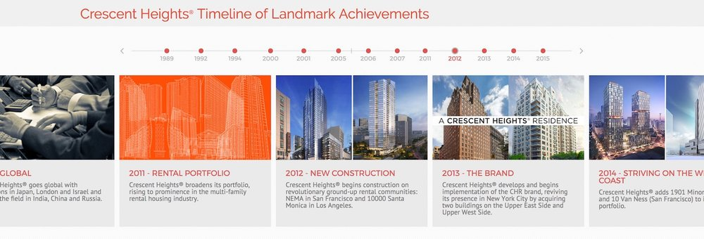 crescent heights - best property management website designs