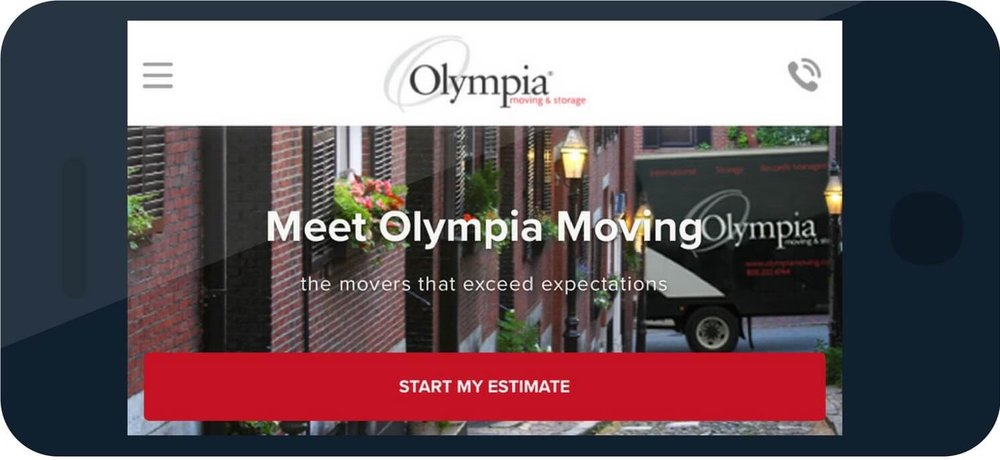 olympia phone - top moving company website design