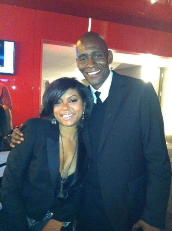 James with longtime friend, Tariji P Henson.