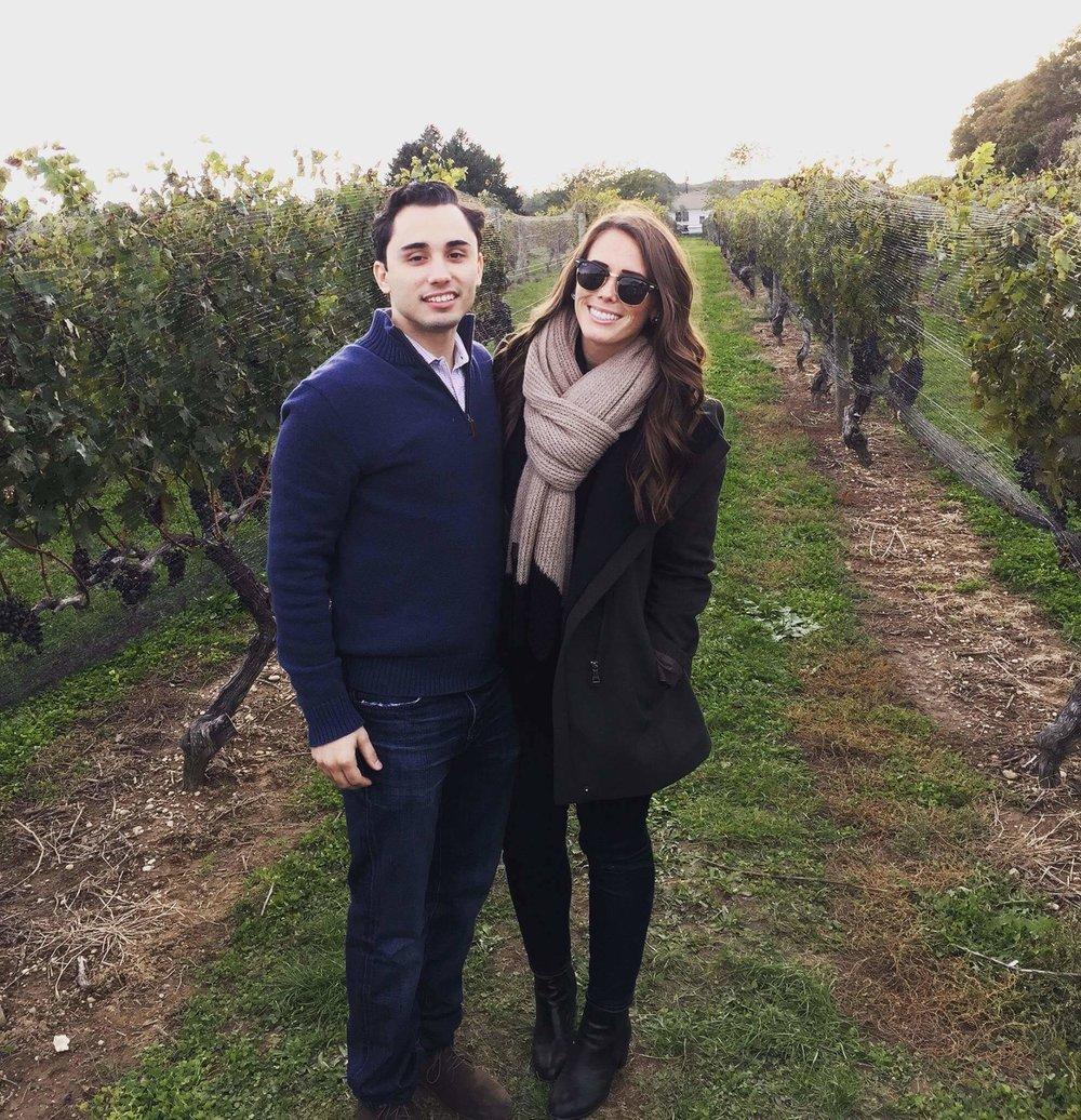 Amanda with her fiancé. Congrats!