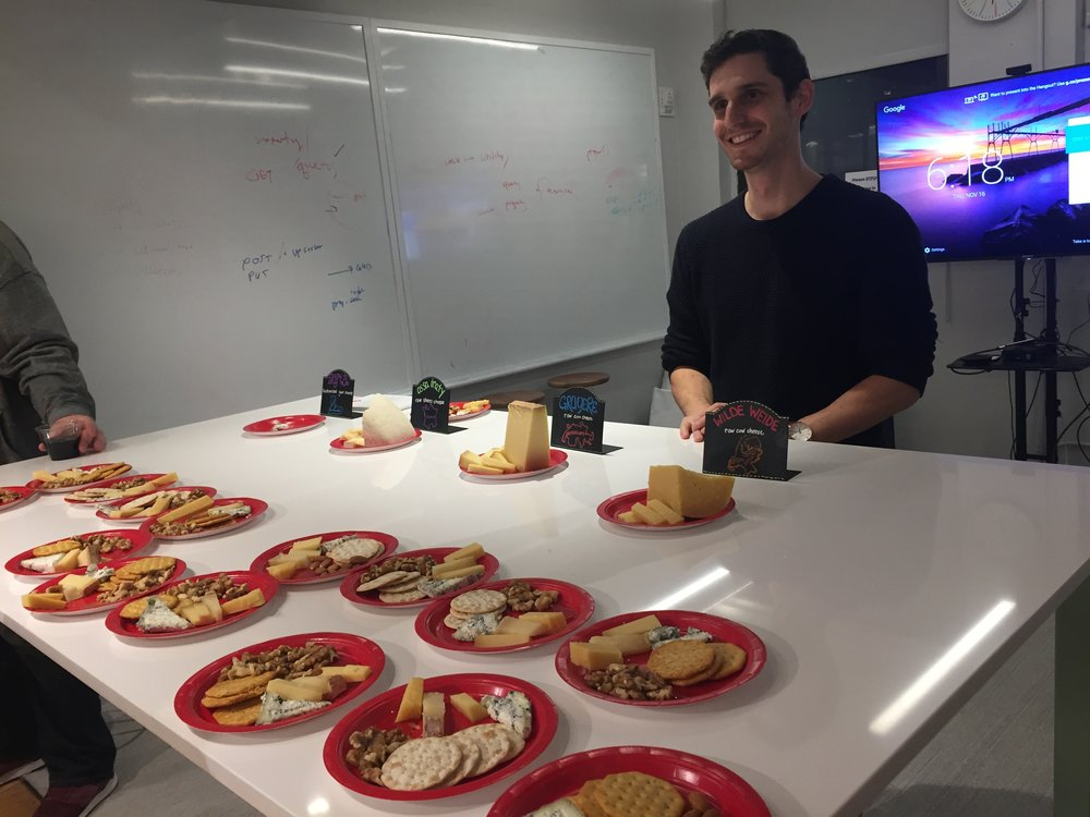 ben - cheese tasting at updater