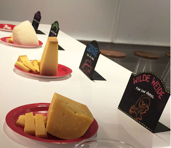 cheese tasting at updater