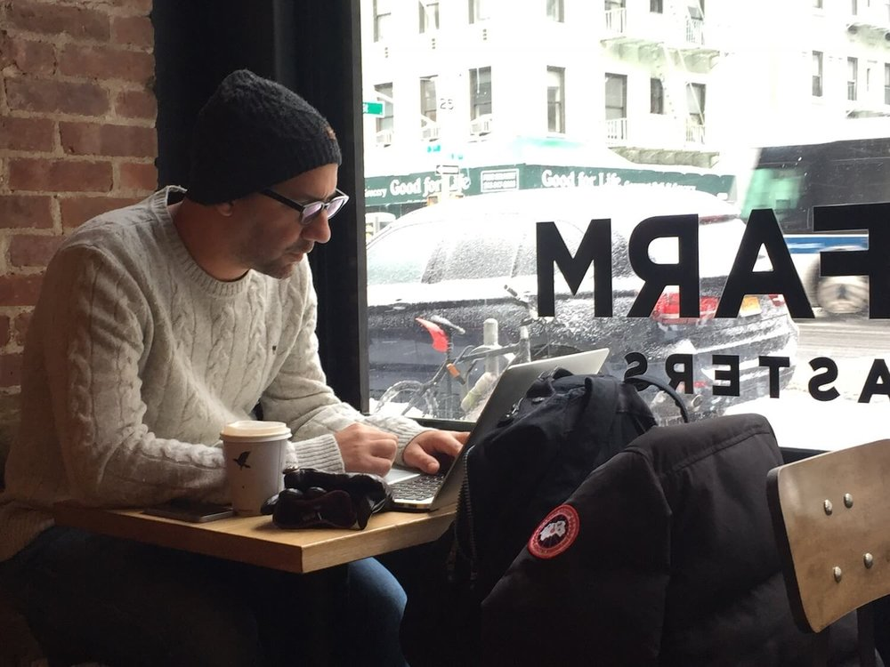 hesham at coffeeshop - meet updater hesham