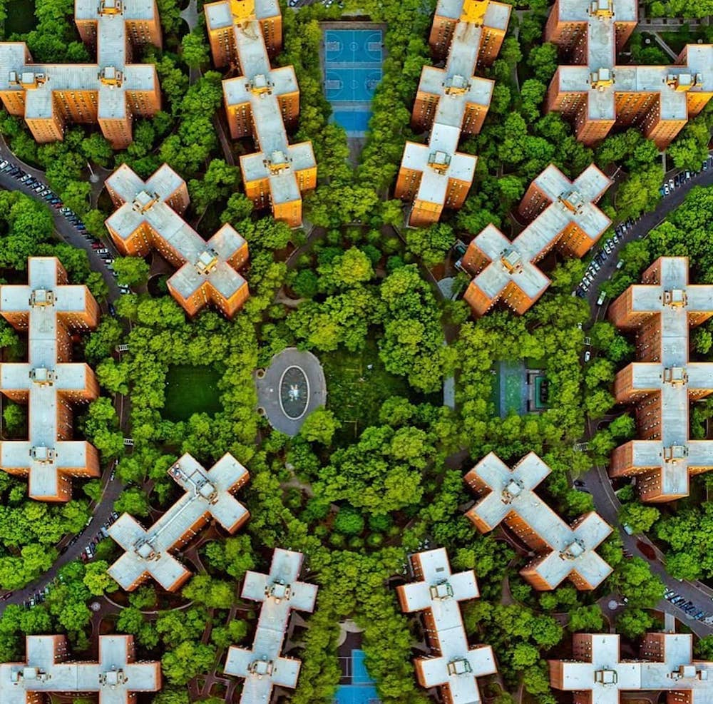 stuytown overhead view - property management companies social media