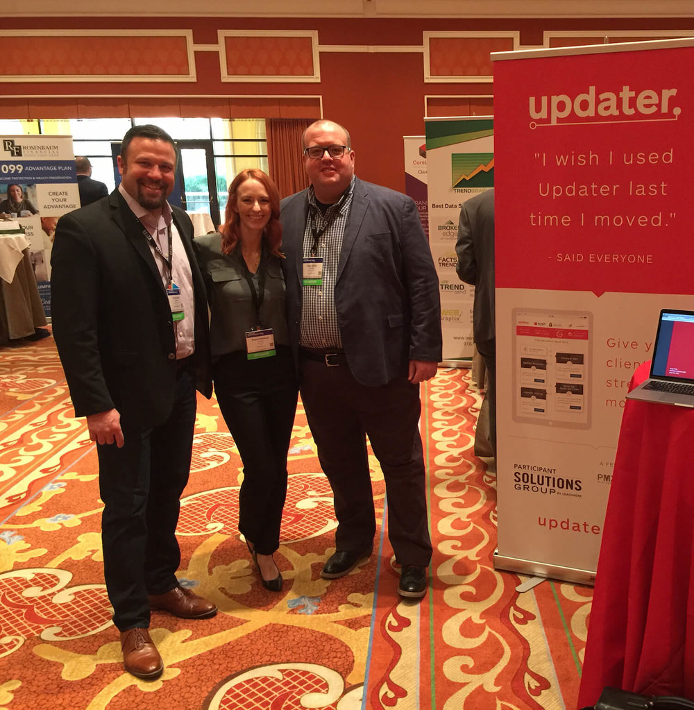 Meet Updater's Chris Avery, Brandi Whitlock, and Greg Hicks at Keller Williams Family Reunion