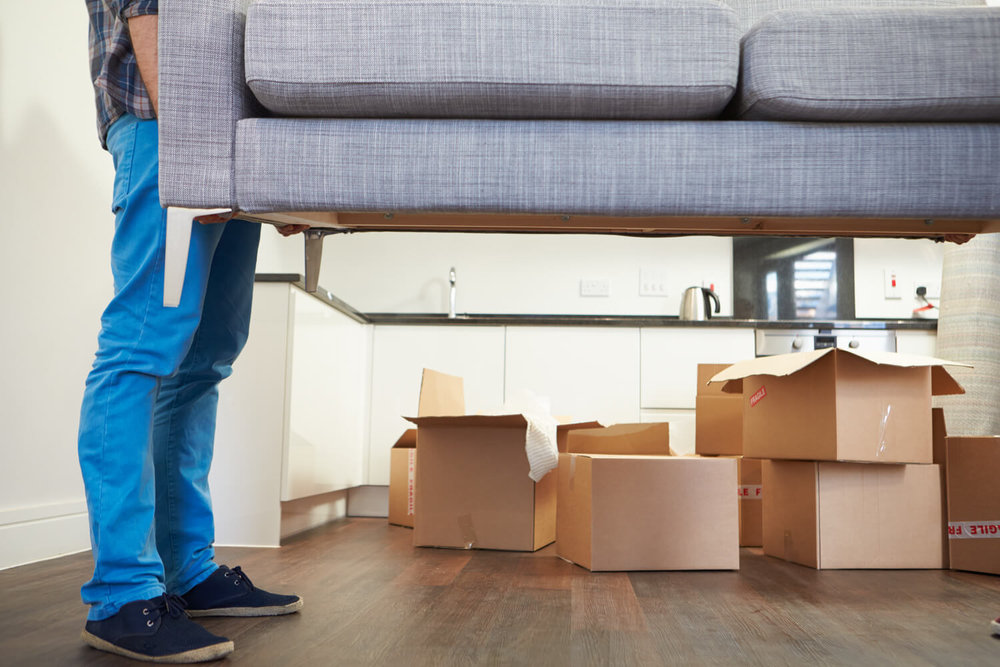 moving couch - real estate agent moving guide