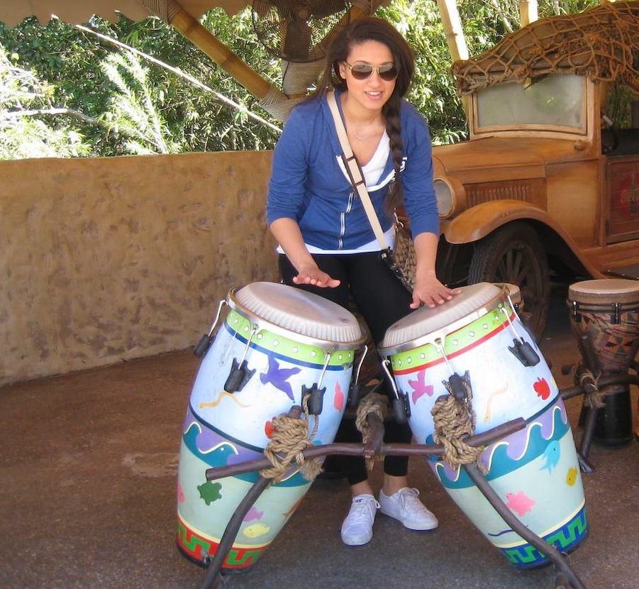 jacqueline playing drums - meet updater jacqueline daoud
