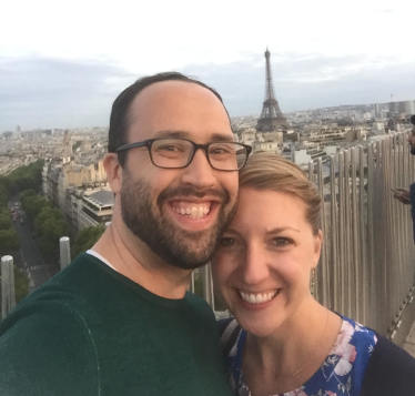 Daniel and his wife, Lauren, in Paris.