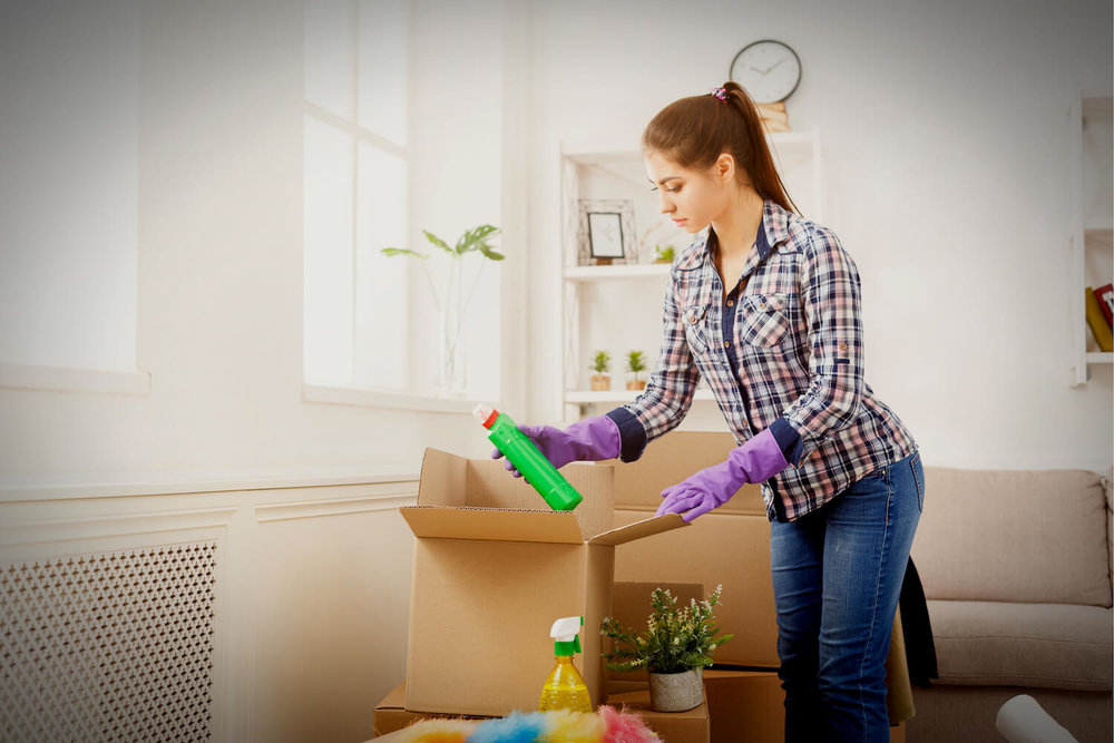 packing cleaning products - what not to pack when moving