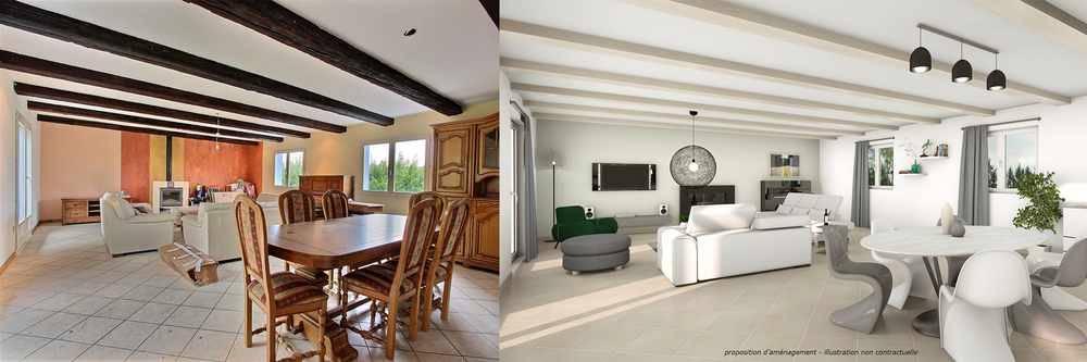 Before and after virtual staging. Source:  Cedar Architect