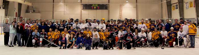 Participants from the JDRF Hockey Fundraiser