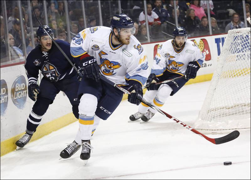 Clare posted 18 points as a rookie last season with the Walleye. Photo Courtesy of Andy Morrison