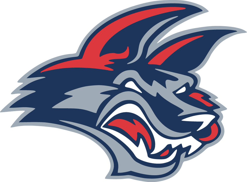 When the Jackals entered the ECHL in the Summer of 2007 they unveiled this new logo, which has been the team's logo ever since.