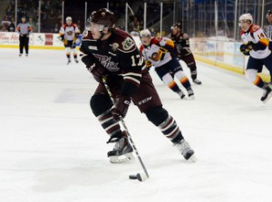 Greg Betzold with the Peterborough Petes in 2015 © Greg Wohlford/Erie Times