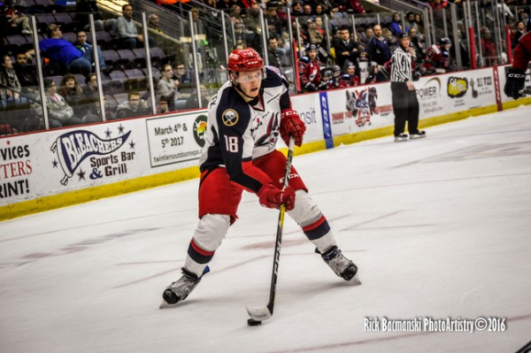 Forward Vaclav Karabacek has been recalled to AHL-Rochester after shining in nine games in Elmira