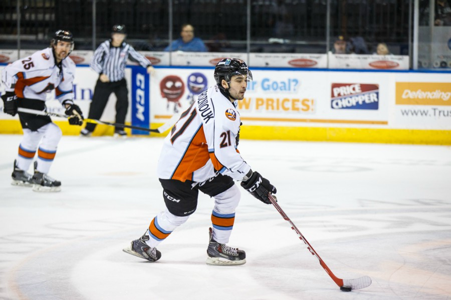 Sam Povorozniouk has been loaned to the Jackals from the Chicago Wolves. Photo courtesy of Howe Creative Photography