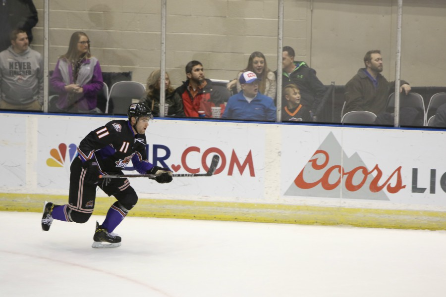 Luke Sandler has signed with the Jackals after posting 21 points in 27 games with the Knoxville Ice Bears.