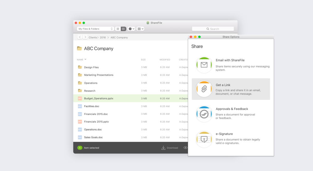 ShareFile for Mac, 2016.