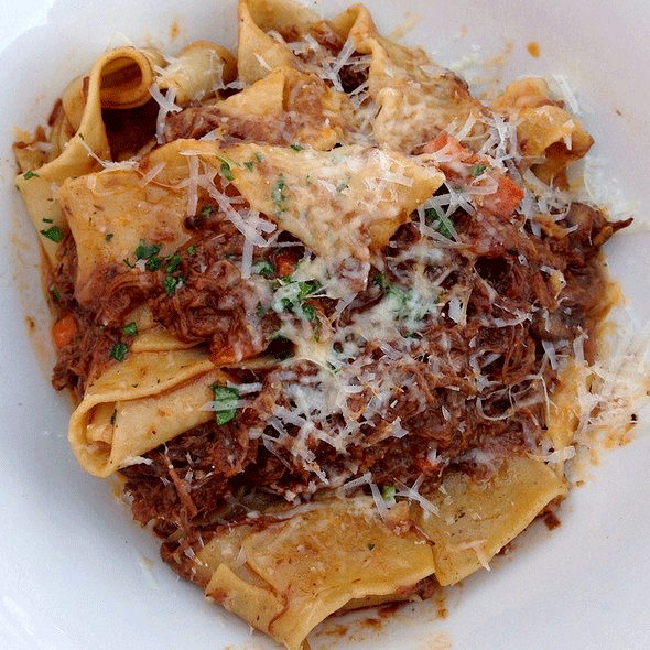 Braised Beef Ragu with Pappardelle Pasta