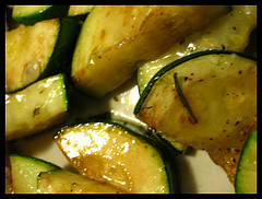zucchini cooked in olive oil with rosemary, th...