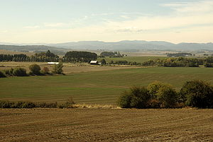 Farmscape of The Willamette Valley in northern...