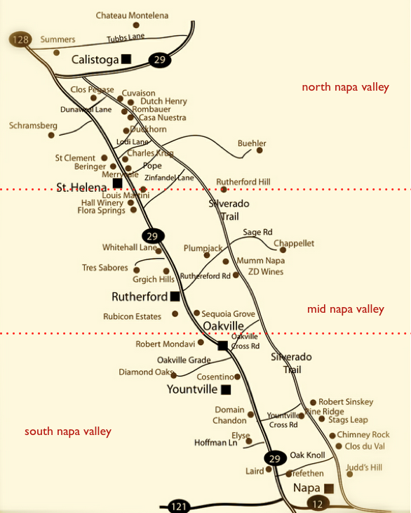 map courtesy of winecountrygetaways.com