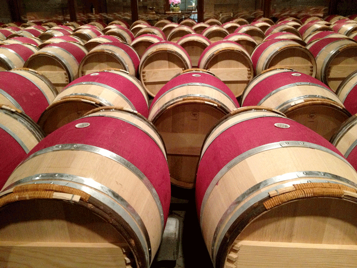 Opus One barrel room