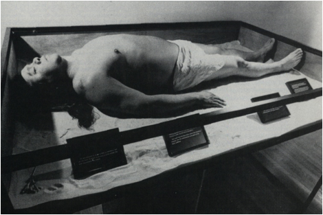 James Luna, The Artifact Piece, 1987, Performance at the Museum of Man in Balboa Park, San Diego