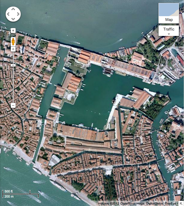Satellite Image of the Arsenale