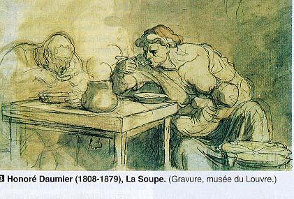 La Soupe (1862) by Honoré Daumier