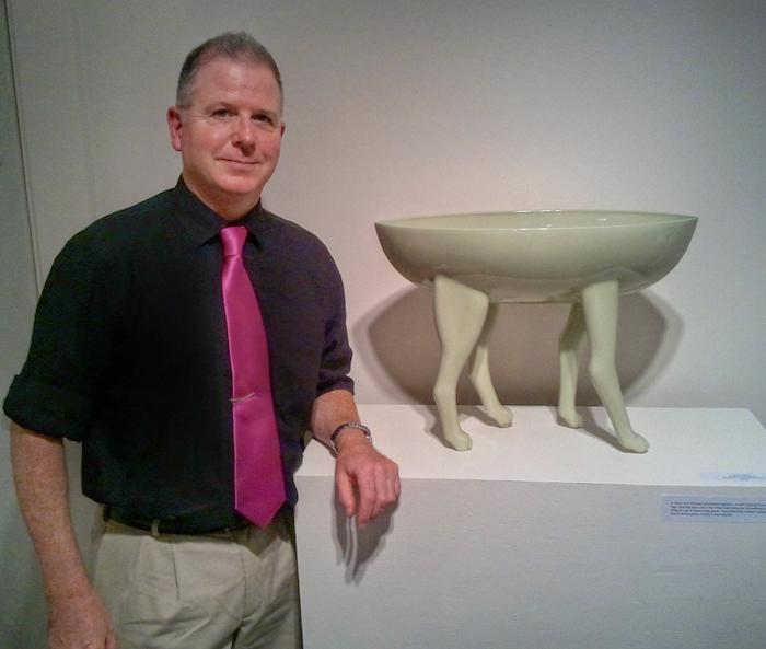 "Green Artby Derek Scheips, of Mike Adams's ""Green Crackle Ding"""