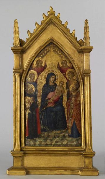 Pietro Lorenzetti, Virgin Enthroned with Child and Four Angels
