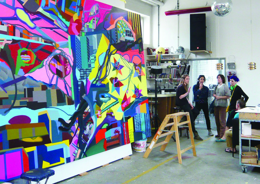 IDSVA Students visiting the Franz Ackermann studio, Berlin
