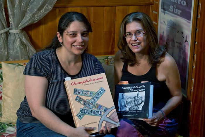 Tania Romero and Maria Jose Alvarez, the first woman filmmaker in Nicaragu