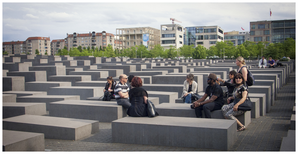 IDSVA at the Holocaust Memorial, Berlin 2015.  Photo by Louise Carrie Wales, Cohort '13