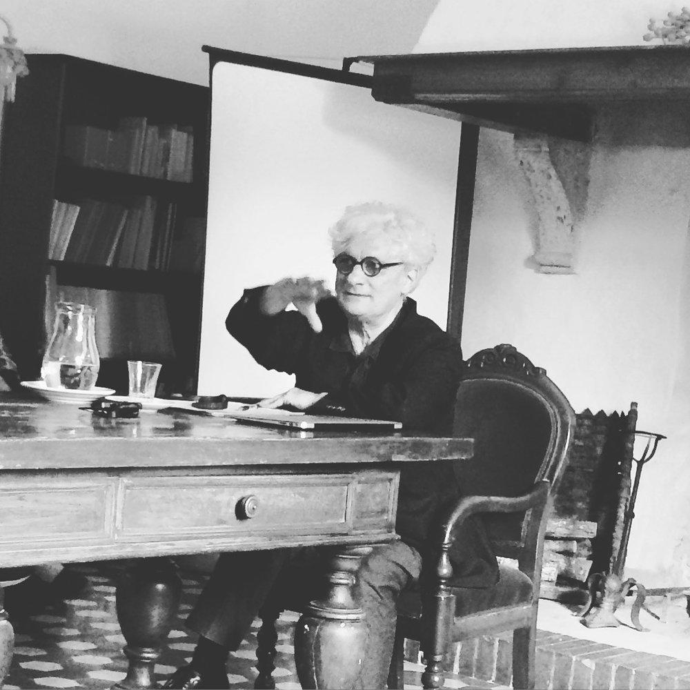 Franco Berardi at Spannocchia. Photo by Erin Latham.