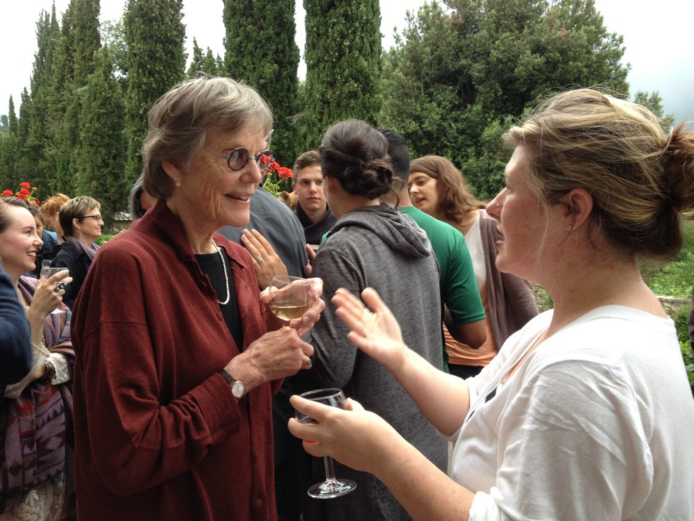Alison Hildreth at Spannocchia. Photo by Simonetta Moro.